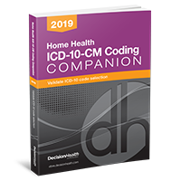 Home Health ICD-10-CM Coding Companion, 2019